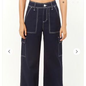 Forever 21 Blue Stitch Pants